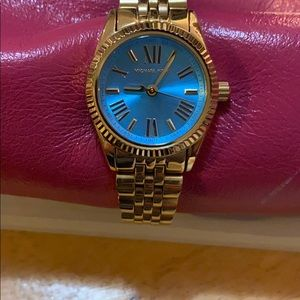 MICHAEL KORS gold link turquoise face watch